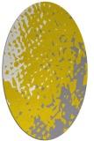 rug #768097 | oval white animal rug