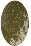 rug #768129   oval light-green animal rug