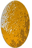rug #768133 | oval light-orange animal rug