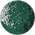 rug #768633   round blue-green animal rug