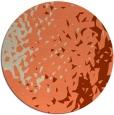 rug #768697 | round orange animal rug