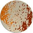 rug #768817 | round orange animal rug