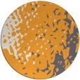rug #768849 | round light-orange animal rug