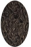 rug #769569 | oval black rug