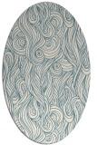 rug #769581 | oval white abstract rug