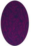 rug #769585 | oval pink natural rug