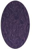 rug #769653 | oval purple rug