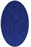 rug #769661   oval blue-violet abstract rug