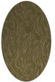 rug #769677 | oval mid-brown natural rug