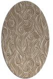rug #769709 | oval mid-brown natural rug