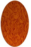 rug #769745 | oval red-orange abstract rug