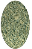 rug #769761 | oval blue-green abstract rug