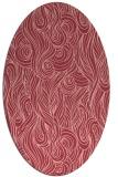 rug #769773 | oval pink abstract rug