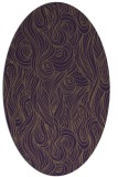 rug #769789 | oval purple natural rug