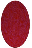 rug #769809 | oval red natural rug