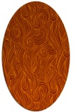 rug #769813 | oval red-orange abstract rug