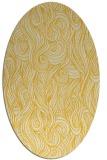 rug #769845   oval yellow abstract rug