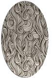 rug #769853 | oval brown rug
