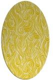 rug #769857   oval white abstract rug