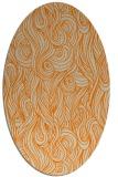 rug #769873 | oval orange natural rug
