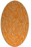 rug #769874 | oval abstract rug