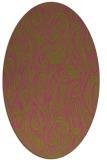 rug #769885 | oval light-green popular rug