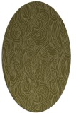 rug #769889 | oval light-green natural rug