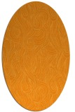 rug #769901 | oval light-orange abstract rug