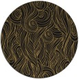 rug #770281 | round black abstract rug