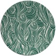 rug #770393 | round green abstract rug