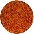 rug #770449 | round orange abstract rug