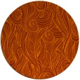 rug #770517 | round red-orange abstract rug