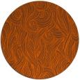 rug #770525 | round red-orange natural rug