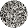 rug #770533 | round black natural rug