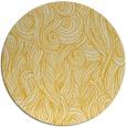 rug #770549 | round yellow popular rug