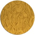 rug #770565 | round yellow abstract rug
