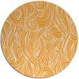 rug #770609   round light-orange abstract rug