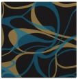 rug #770985 | square black retro rug