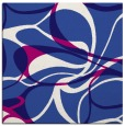 rug #771069 | square blue-violet retro rug