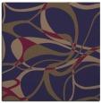 rug #771073 | square blue-violet retro rug