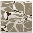 rug #771105 | square mid-brown retro rug