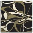rug #771273 | square black retro rug