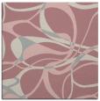 rug #771305 | square pink retro rug