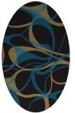 rug #771337 | oval mid-brown retro rug