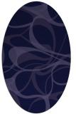 rug #771401 | oval blue-violet rug