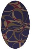 rug #771425 | oval blue-violet retro rug
