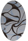 rug #771429 | oval blue-violet retro rug