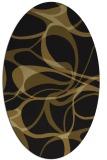 rug #771433 | oval mid-brown retro rug