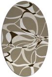 rug #771457 | oval white retro rug