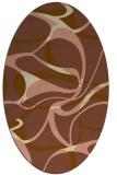 rug #771461   oval brown retro rug